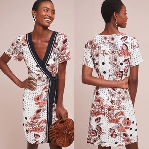 Anthropologie Maeve Aubrey floral wrap dress
